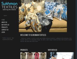 sukhmantextiles.com screenshot