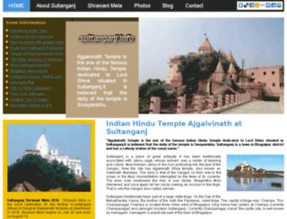 sultanganj.info screenshot