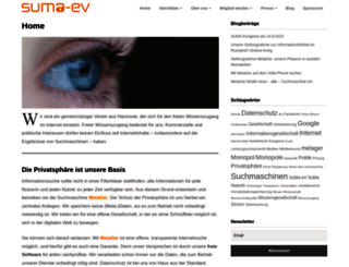 suma-ev.de screenshot