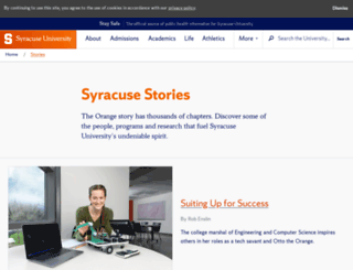 sumagazine.syr.edu screenshot