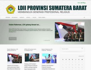 sumbar.ldii.or.id screenshot