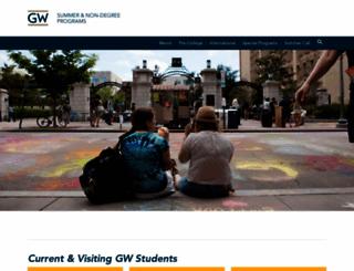 summer.gwu.edu screenshot