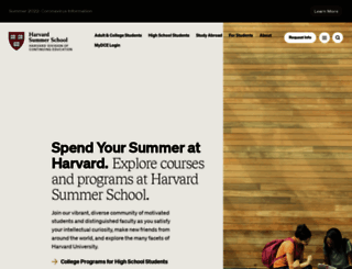 summer.harvard.edu screenshot