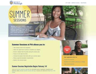summer.pitt.edu screenshot