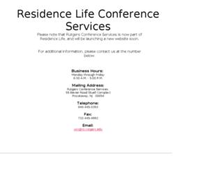 summerconferences.rutgers.edu screenshot