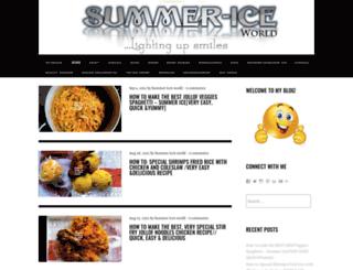 summericeworld.wordpress.com screenshot