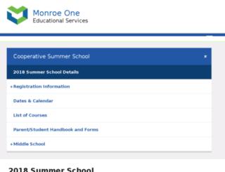 summerschool.monroe.edu screenshot