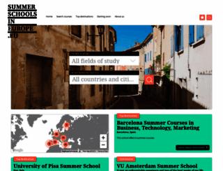 summerschoolsineurope.eu screenshot