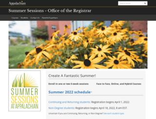 summersessions.appstate.edu screenshot