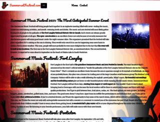 summersetfestival.com screenshot