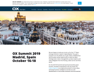 summit.open-xchange.com screenshot