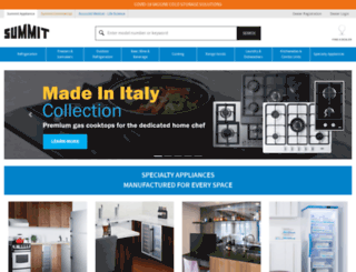 summitappliances.com screenshot
