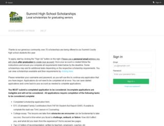 summitscholarships.fluidreview.com screenshot