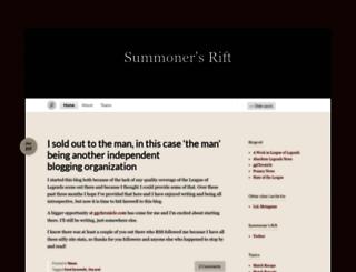 summonersriftlol.wordpress.com screenshot