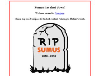 sumus.oxfam.org screenshot