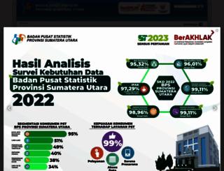 sumut.bps.go.id screenshot