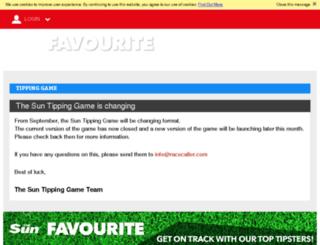 sun.racecaller.com screenshot