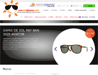 sunandglasses.com screenshot