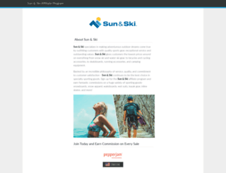 sunandski.affiliatetechnology.com screenshot