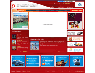 sunandskytravels.com screenshot