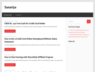 sunariya.com screenshot