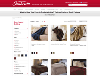 sunbeambedding.com screenshot