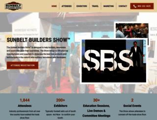 sunbeltbuildersshow.com screenshot