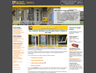sunbeltshutters.com screenshot