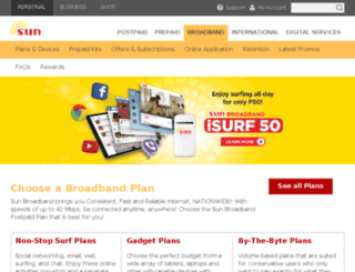 sunbroadband.ph screenshot