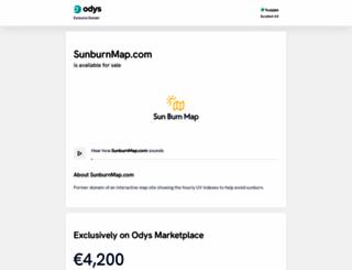 sunburnmap.com screenshot