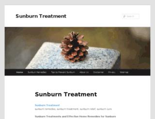 sunburntreatment.org screenshot