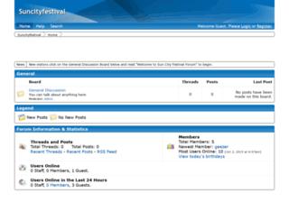 suncityfestival.freeforums.net screenshot