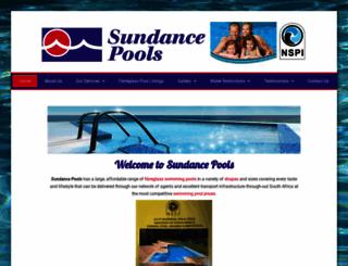 sundancepools.co.za screenshot