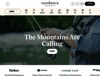 sundanceresort.com screenshot