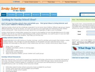 sunday-school-ideas-for-new-teachers.com screenshot