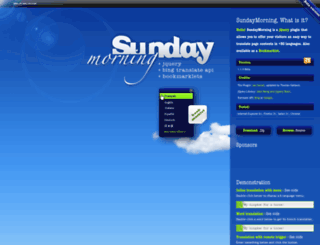 sundaymorning.jaysalvat.com screenshot