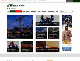 sundaynews.co.zw screenshot