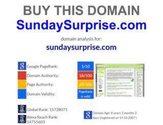 sundaysurprise.com screenshot