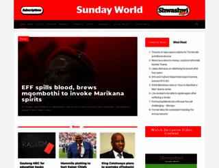 sundayworld.co.za screenshot