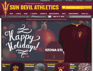 sundevils.teamfanshop.com screenshot