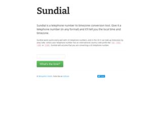 sundial.benjaminasmith.com screenshot