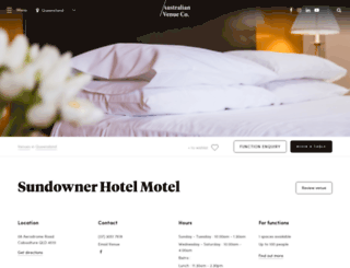 sundownerhotel.com.au screenshot