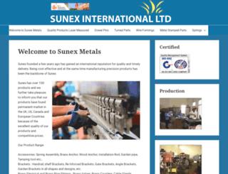 sunexmetals.com screenshot