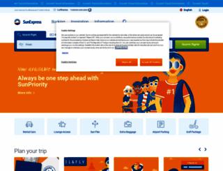 sunexpress.com screenshot
