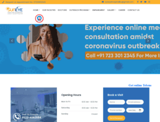 suneyehospital.com screenshot