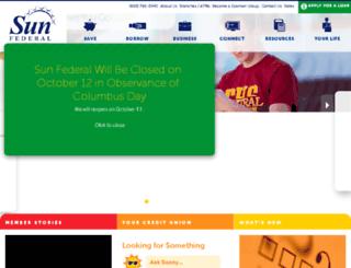 sunfcuhb.org screenshot