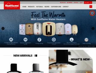 sunflame.com screenshot