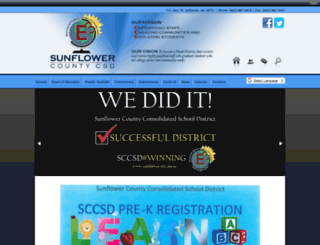 sunflowercountycsd.schoolinsites.com screenshot