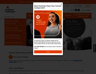 sunflowerhealthplan.com screenshot