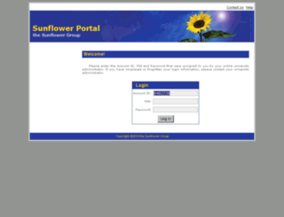 sunflowerlms.com screenshot